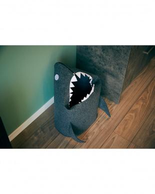 ダークグレー 折りたたみフェルトストレージ shark見る