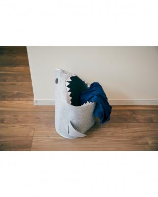 ライトグレー 折りたたみフェルトストレージ shark見る