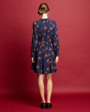 midnight blue pattern DIPLOMA Dress見る