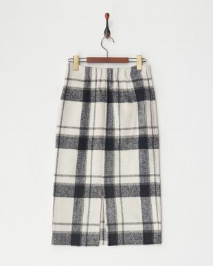 BLACK チェックタイトスカートを見る