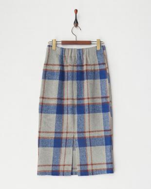 BLUE チェックタイトスカートを見る