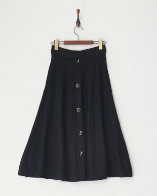 BLACK ニットプリーツスカート見る