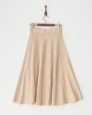 BEIGE ニットプリーツスカート見る