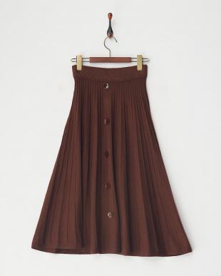 BROWN ニットプリーツスカートを見る