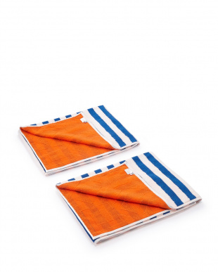 オレンジ ピカソバスタオル 2枚セットを見る