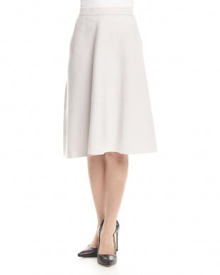 ライトブルー SUNNY総針フレアースカート見る