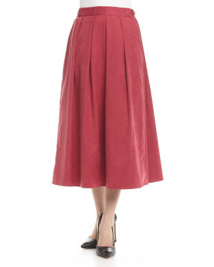 ピンク シルセールスウェード調スカートを見る