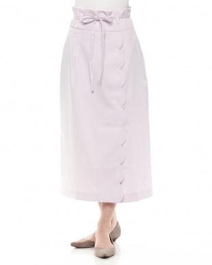 PU ハイウエストスカラップタイトスカートを見る