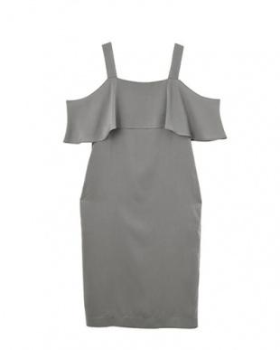 グレー STYLE DELI DRESS ショルダー2WAY胸元フリルワンピースを見る