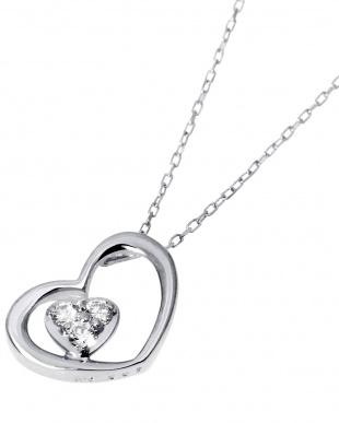 K18WG 天然ダイヤモンド 計0.05ct ハートINハート ネックレスを見る