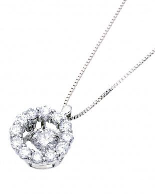 K18WG  ダンシング 天然ダイヤモンド 計0.5ct サークルネックレス見る