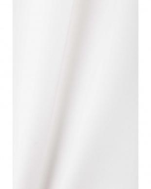 ホワイト ツイル2バックルベルト付きワイドパンツ アドーア見る