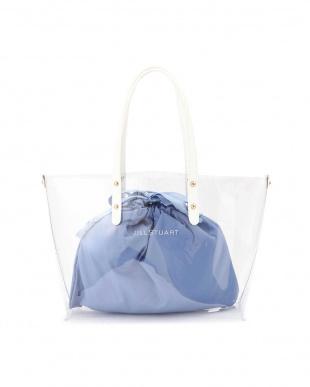 BLUE ◆[WEB限定]クリアトートバッグ ジルスチュアートライセンス見る