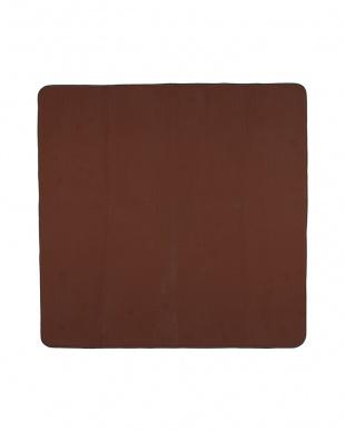 ブラウン カラーズ カービングラグ 185×185cm アルミシート付見る