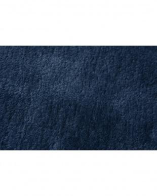 ブルー  洗えるミンクタッチラグ 130×185cm アルミシート付見る