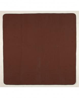 ブラウン ふんわりラグ カラーズ 130×185cm アルミシート付見る