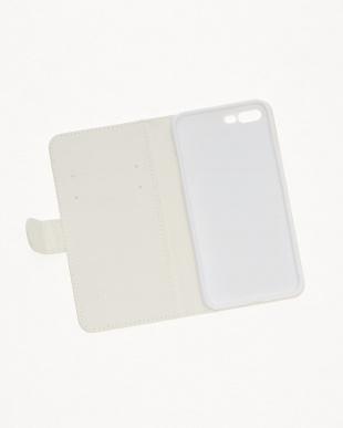 ホワイト  ジプセットビーズ ノートタイプ ラベンダー×ミント( iPhone7 plus/8  plus)見る