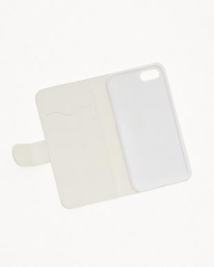 ホワイト  ジプセットビーズ ノートタイプ ラベンダー×ミント( iPhone7/8)見る