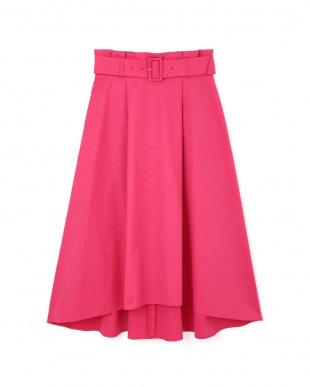 ピンク2 イレギュラーヘム カラースカート ピンキー&ダイアン見る