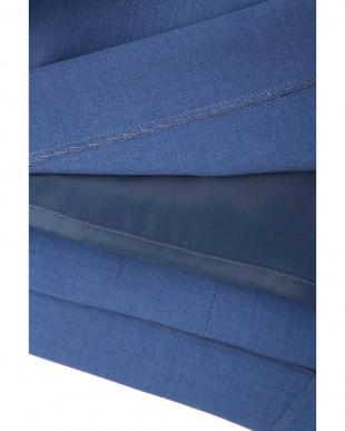 ブルー リネンタッチコルセット風ベルト付きスカート ピンキー&ダイアン見る