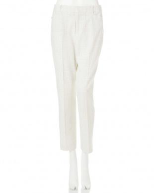 ホワイト1 ◆大きいサイズ◆両面起毛チェックパンツ Aylesbury L見る