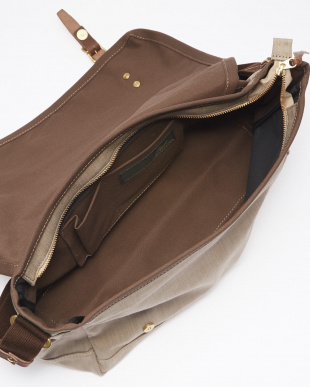BE(ベージュ) 日本製 デニム×レザー ショルダーバッグ 厚口ヌメ革を見る