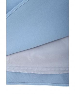 ブルー |美人百花 10月号掲載|ツイルギャザーフレアスカート ナチュラルビューティB見る
