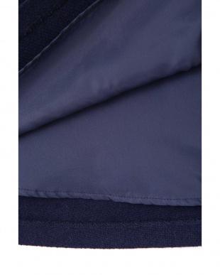 ネイビー |美人百花 11月号掲載|イタリーウールフロントボタンフレアスカート ナチュラルビューティB見る
