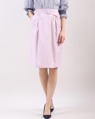 パープル2 ベルト付きペンシルタイトスカート CLEAR IMPRESSION見る