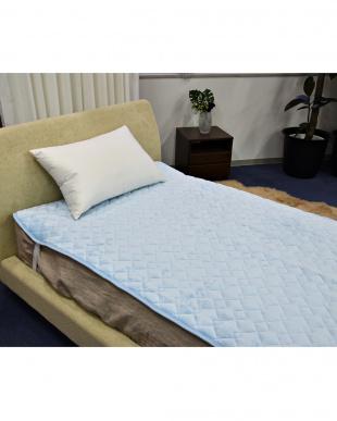 ブルー あったか吸湿発熱中わた使用 フランネル敷きパッド 中綿増量タイプ シングルを見る