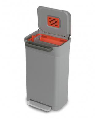 ペブル(ライトグレー) クラッシュボックス 30L(ペダル式ゴミ箱)見る