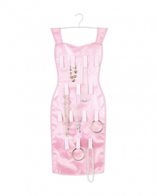 ピンク コントゥールイブニングドレス見る