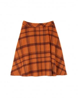 ベージュ8 チェック柄スカート NATURAL BEAUTY見る