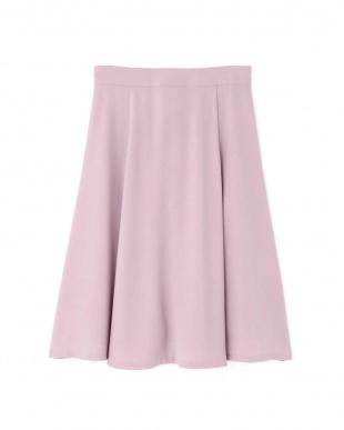 パープル1 [洗える]バックサテンジョーゼットスカート NATURAL BEAUTY見る