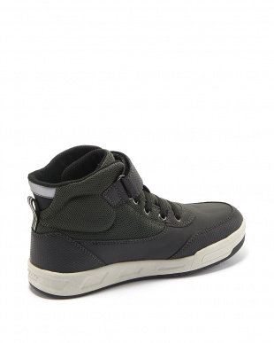 MILITARY/BLACK  ANKLE BOOTS見る