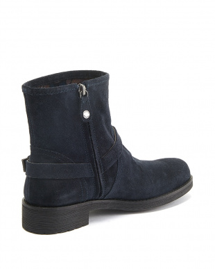 NAVY  ANKLE BOOTS見る
