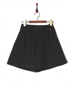 ブラック・キュロット  ラッププリーツキュロットパンツ スカート見る