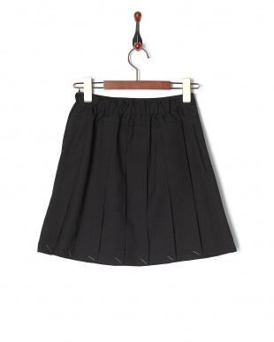 ブラック・スカート  ラッププリーツキュロットパンツ スカート見る