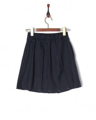 ネイビー・スカート  ラッププリーツキュロットパンツ スカート見る