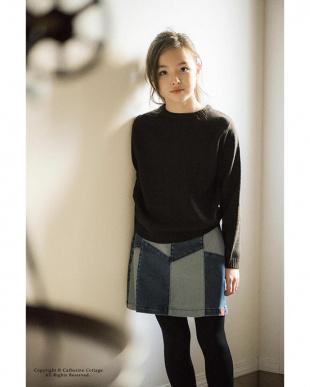 ブルー2 menuet ストレッチデニムスカート|GIRLを見る