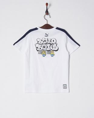 PUMA WHITE ミニオンズ SS Tシャツ見る