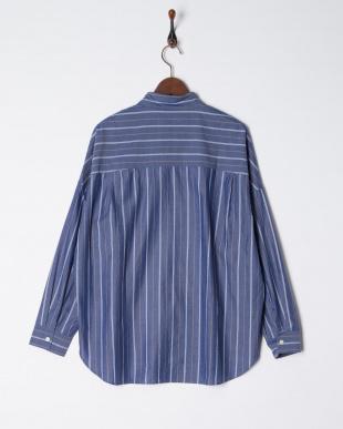 003  綿テンセルストライプ ワイド REGシャツ見る