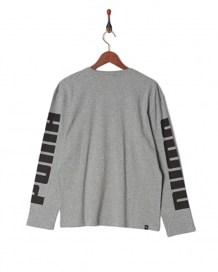 MEDIUM GRAY HEATHER REBEL LS Tシャツ見る