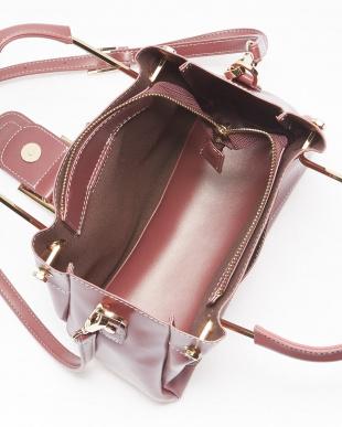 Pink バックルモチーフ飾り メタルハンドルバッグを見る