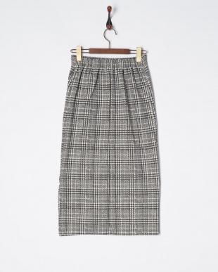 グレンチェック  スカート見る
