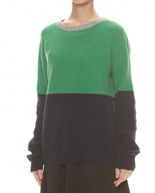 Lグレーxソラ カシミヤセーター見る