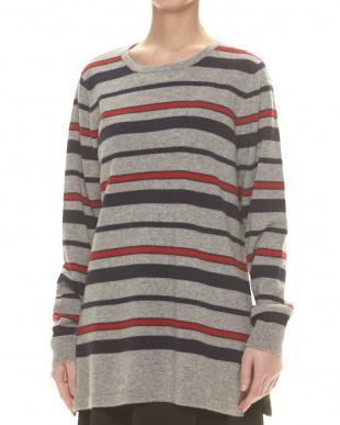 デニムxグレー カシミヤセーター見る
