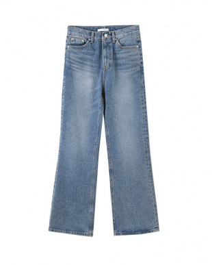 ブルー BASIC WIDE DENIM見る