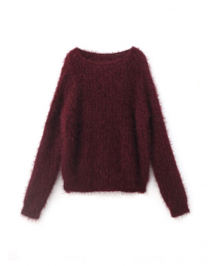ワイン FEATHER KNIT TOPS見る