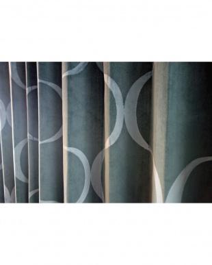 ブルー  PINKERTONドレープカーテン 200cm(幅)×210cm(丈)見る